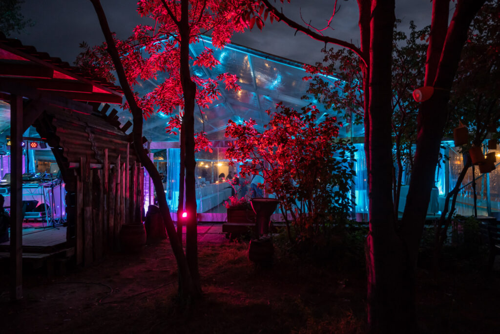 Zelt mit Beleuchtung